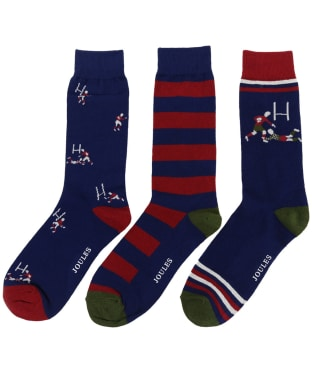 Men's Joules Striking 3 Pack Socks - Rugby