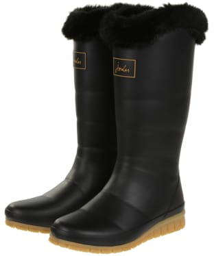 Women's Joules Downton Tall Padded Wellingtons - Black