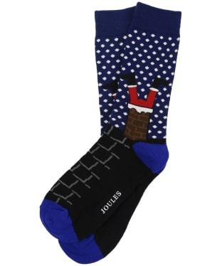 Men's Joules Striking Christmas Socks - Santa
