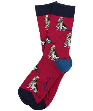 Women's Joules Brilliant Bamboo Christmas Socks - All Over Beagle