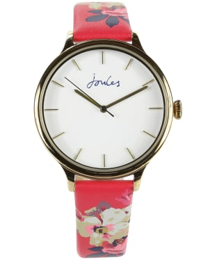 Women's Joules Rae Watch - White / Raspberry