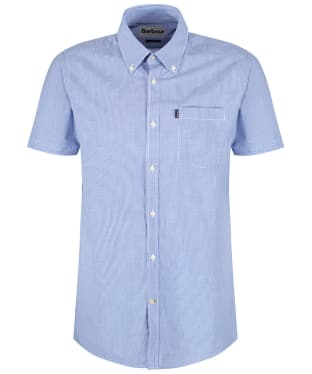 Men's Barbour Gingham 6 S/S Tailored Shirt - Aqua