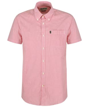 Men's Barbour Gingham 6 S/S Tailored Shirt - Raspberry