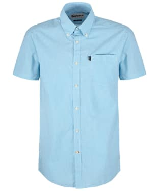 Men's Barbour Gingham 6 S/S Tailored Shirt - Turquoise