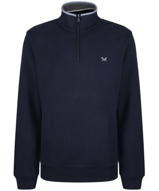 Men's Crew Clothing Half Zip Sweater - Dark Navy