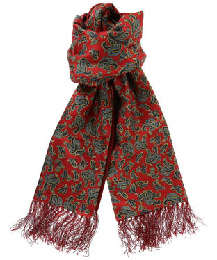 Men's Soprano Edwardian Paisley Silk Scarf - Red Paisley