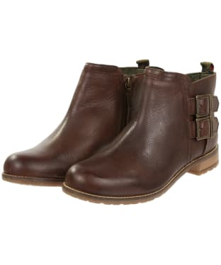Women's Barbour Sarah Low Buckle Boots - Wine