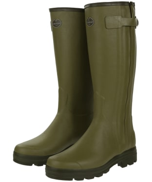 Men's Le Chameau Chasseur Leather Lined Wellington Boots - 43cm calf