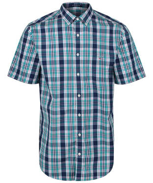 Men's GANT Regular Broadcloth Plaid Shirt - Persian Blue
