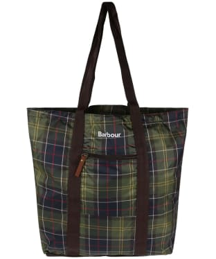 Barbour Travel Pocket Tote Bag - Classic Tartan