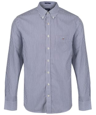 Men's GANT Regular Broadcloth Banker Shirt - Persian Blue