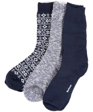 Men's Barbour Chunky Sock Giftset - Multi Mix