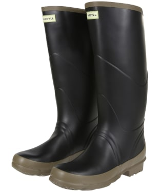 Hunter Argyll Bullseye Full Knee Neoprene Lined Wellington Boots - Black