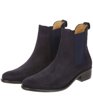 Women's Fairfax and Favor Suede Chelsea Boot - Navy Blue Suede