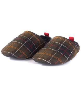 Men's Barbour Guthrie Mule Slippers - Classic Tartan