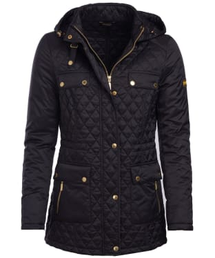 Women's Barbour International Penhal Quilted Jacket - Black
