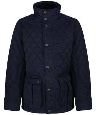 Men's Crew Clothing Harefield Quilted Jacket - Dark Navy