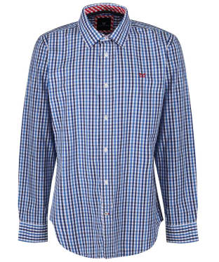 Men's Crew Clothing Classic Gingham Shirt - Lapis Blue Marl