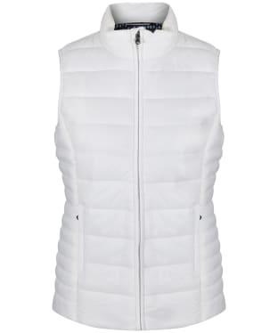 Women's Crew Clothing Lightweight Gilet - White Linen