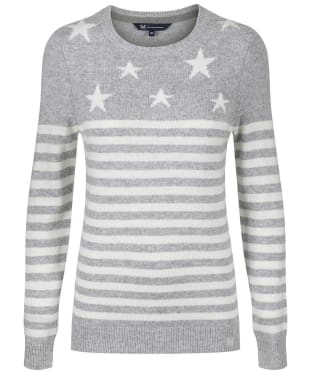Women's Crew Clothing Star Breton Jumper - Grey / White