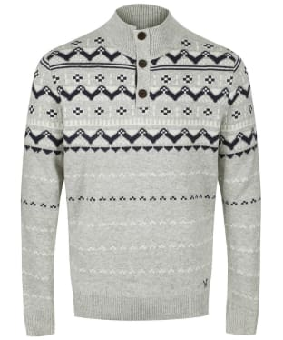 Men's Crew Clothing Fairisle Half Button Sweater