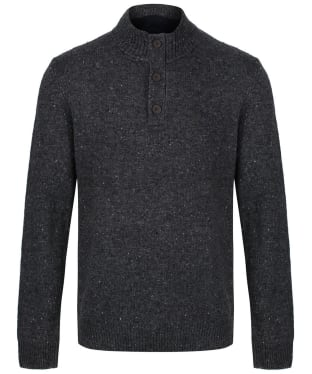 Men's Crew Clothing Swithland Nepp Half Button Sweater - Charcoal Marl