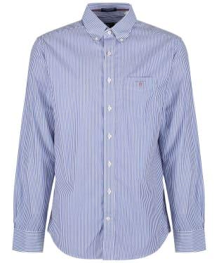 Men's GANT Poplin Banker Striped Shirt - Yale Blue