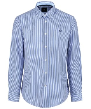 Men's Crew Clothing Classic Stripe Shirt - Ultra Marine