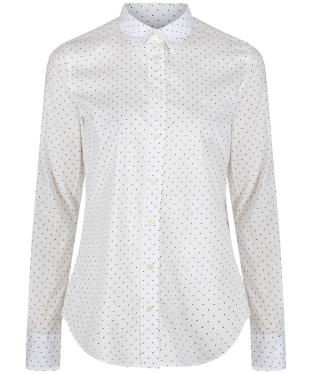 Women's GANT Polkadot Stretch Broadcloth Banker Shirt - White