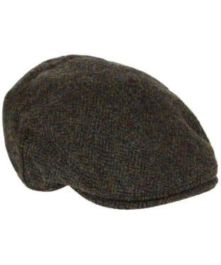 Heather Highland Harris Tweed Flat Cap - Forest