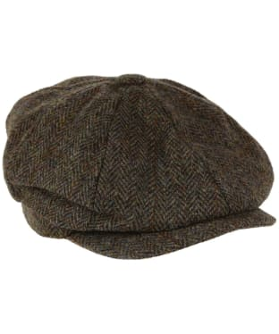 Heather Scott Harris Tweed Newsboy Cap - Green / Brown HB