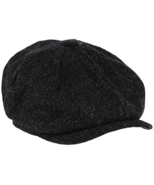 Heather Scott Harris Tweed Newsboy Cap - BLACK HB