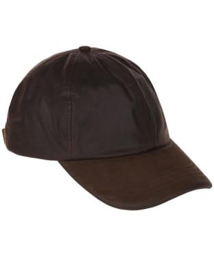 Heather Hamilton Wax Leather Peak Baseball Cap