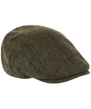 Heather Chapman British Tweed Flat Cap - Navy Overcheck