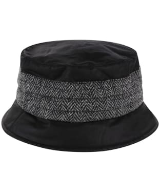Heather Amy Wax/Harris Pleat Hat - Black / Grey