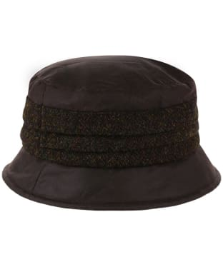 Heather Amy Wax/Harris Pleat Hat - Brown