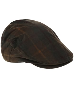 Heather Charles Tartan Wax Flat Cap - Hunter