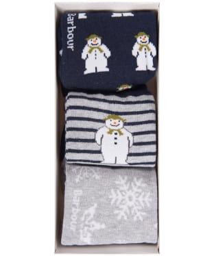 Barbour Kids 'The Snowman™' Layton Sock Gift Set