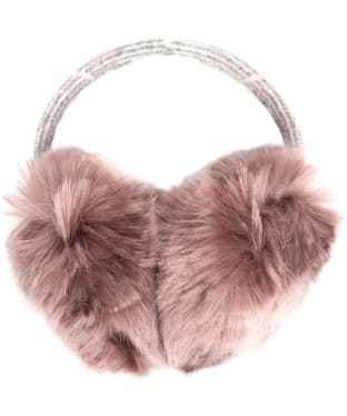 Women's Barbour Lorne Faux Fur Earmuffs - Pink