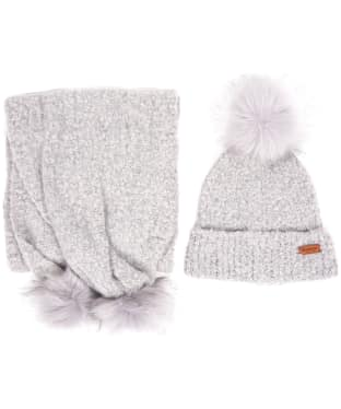 Women's Barbour Boucle Hat & Scarf Giftset - Grey