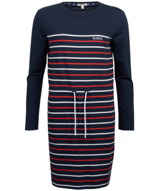 Women's Barbour Fleetwood Dress - Navy / Red / White