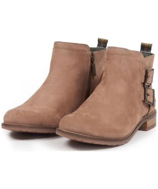 Women's Barbour Sarah Low Buckle Boots - Taupe