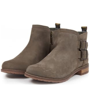 Women's Barbour Sarah Low Buckle Boots - Olive