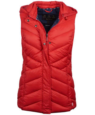 Women's Barbour Seaward Quilted Gilet - Coastal Red