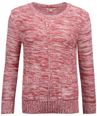 Women's Barbour Deck Knitted Sweater - Red Marl