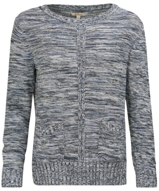 Women's Barbour Deck Knitted Sweater - Cloud Mix