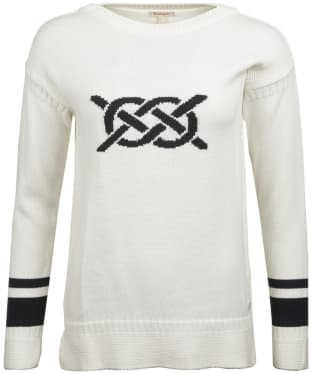 Women's Barbour Mast Knitted Sweater - Off White