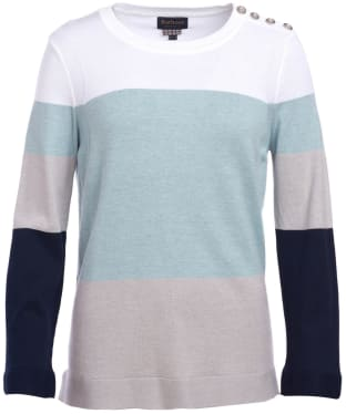 Women's Barbour Lorne Knitted Sweater - Cloud