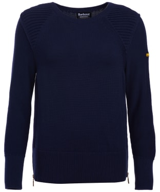 Women's Barbour International Camier Knitted Sweatshirt - Royal Navy