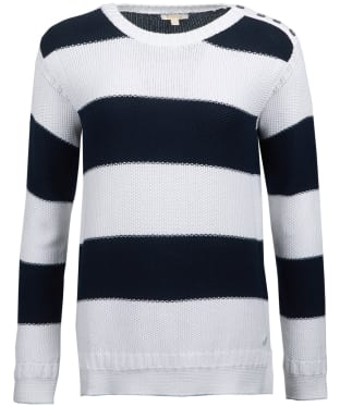 Women's Barbour Fairway Knitted Sweater - Off White / Navy